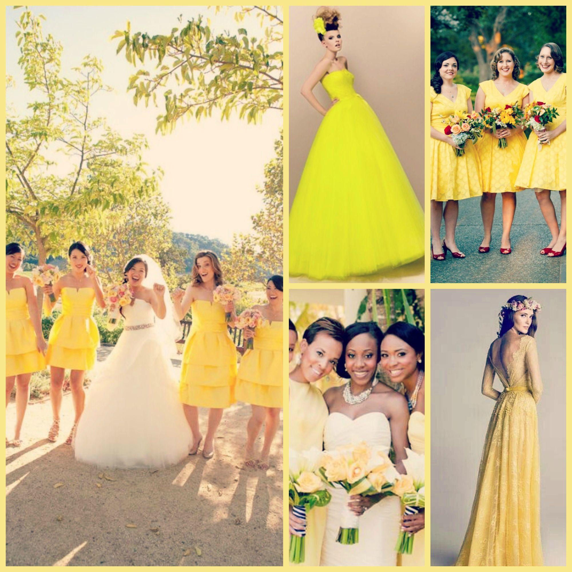 véritable découvrir les dernières tendances divers design Robe jaune pour mariage | Robe pour demoiselle d'honneur ...