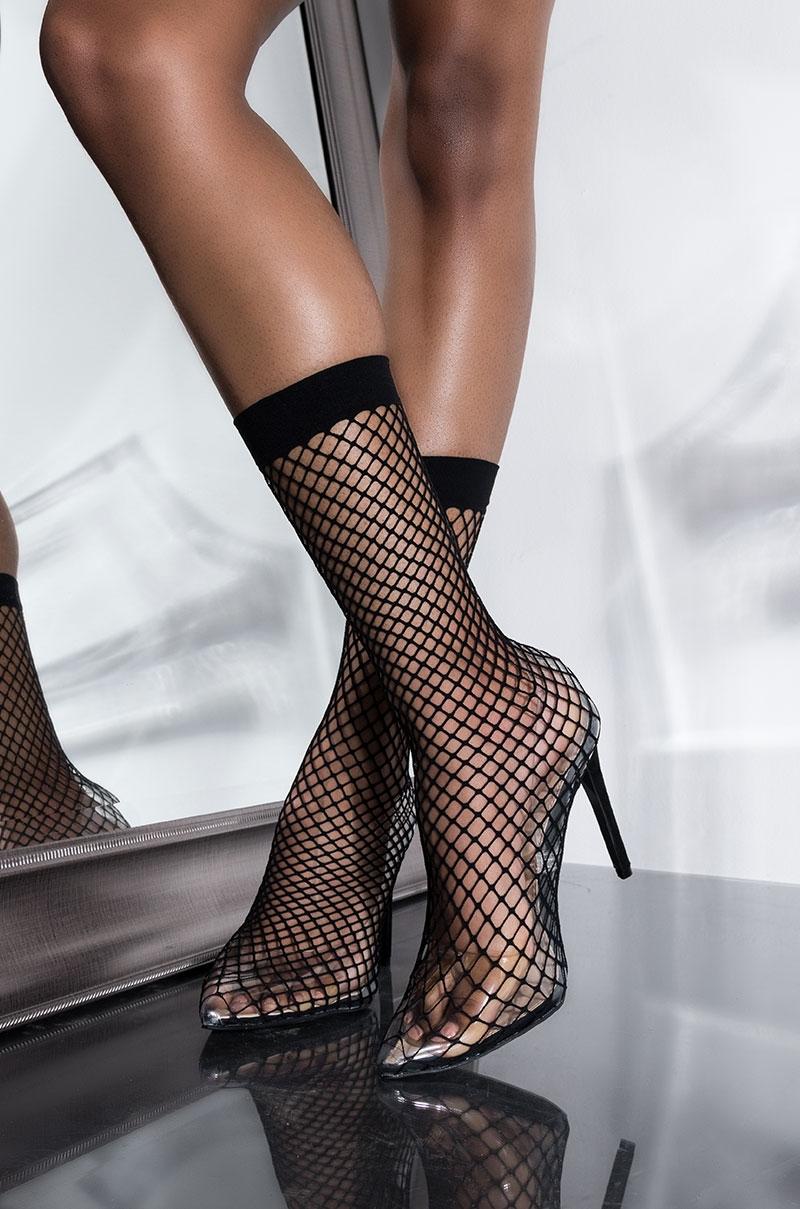 3a00d9631d1b1 Sexy PVC pumps with fishnet sock detail. By AZALEA WANG. | My Style ...
