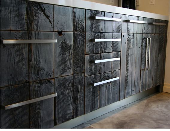 Burned Barnwood Cabinets