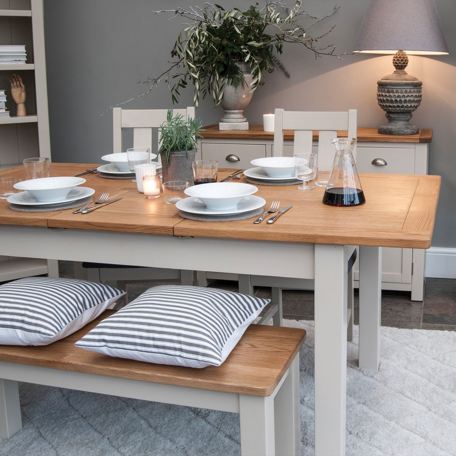 Kitchen table benches  Todenham Extending Dining Table Plus x Bench u  x Dining Chairs