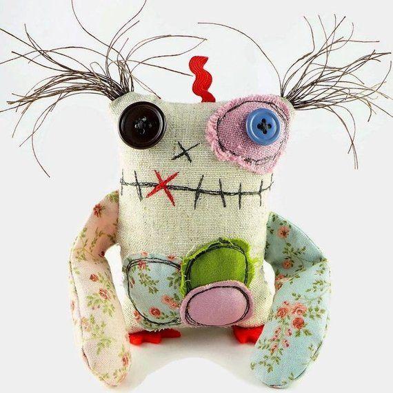 Gefüllte Monster Puppe, Halloween-Geschenk, personalisierte Geschenk, Halloween-Dekor, niedliche Schreibtischzubehör, Plüsch Monster, kleine Monster Spielzeug