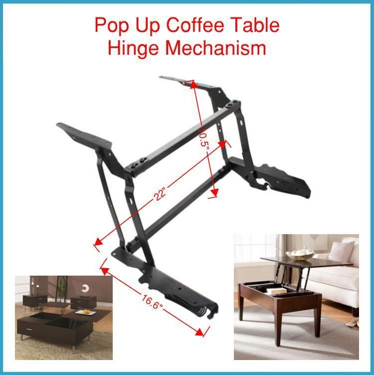 Spring Assist Pop Up Coffee Table Mechanism Convert Your Coffee
