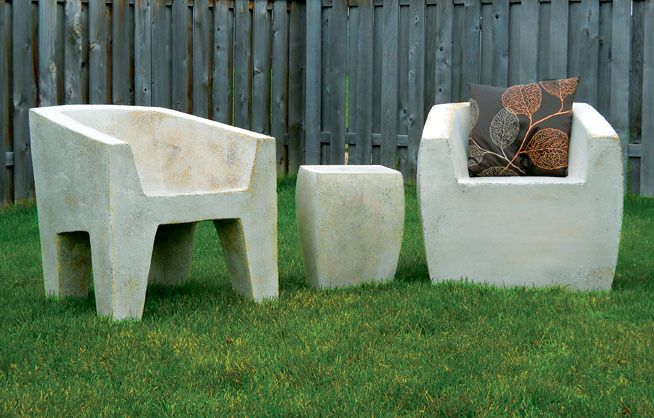 This Fiberglass, Faux Stone Outdoor Furniture By Chicagou0027s Zachary Bitner  Is Great Stuff!