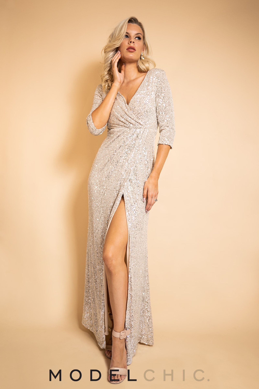 Eileen Long Sleeved Split Sequins Formal Dress In Champagne In 2021 Sequin Formal Dress Formal Dresses Dresses [ 3000 x 2000 Pixel ]
