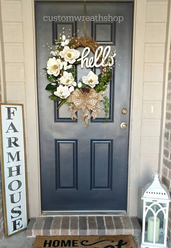 Photo of BEST SELLING WREATH, Grapevine Wreath, Spring Wreath, Front Door Wreath, Mother's Day Gift, Elegant Wreath, Magnolia Wreath, Wreaths For Door
