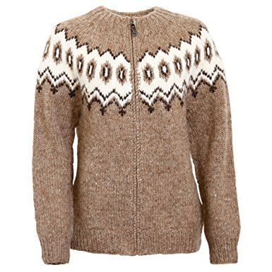 67f6125e5283 ICEWEAR Hulda 100% Icelandic wool hand knitted Jumper with Zipper ...