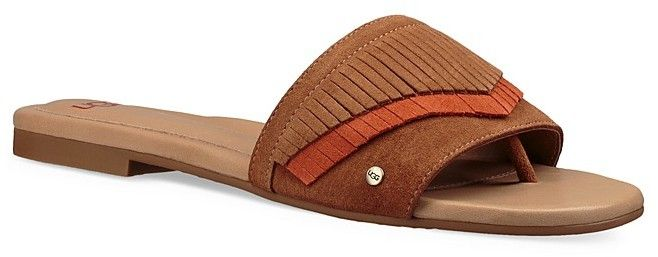 3f3f3a980 UGG Binx Suede Fringe Slide Sandals | Products | Shoes, Leather ...