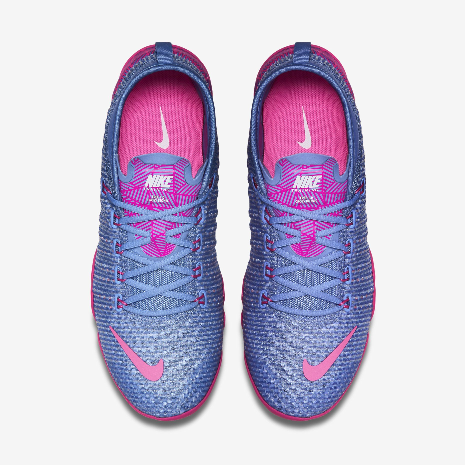 Weave Nike FREE 1.0 Cross Bionic Trainers Womens Sports footwear Womens Trainers COLOUR-blue/lime