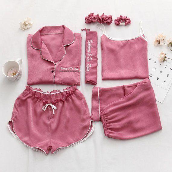 Women Satin Pajama Sets (2 sets) b2aef6012