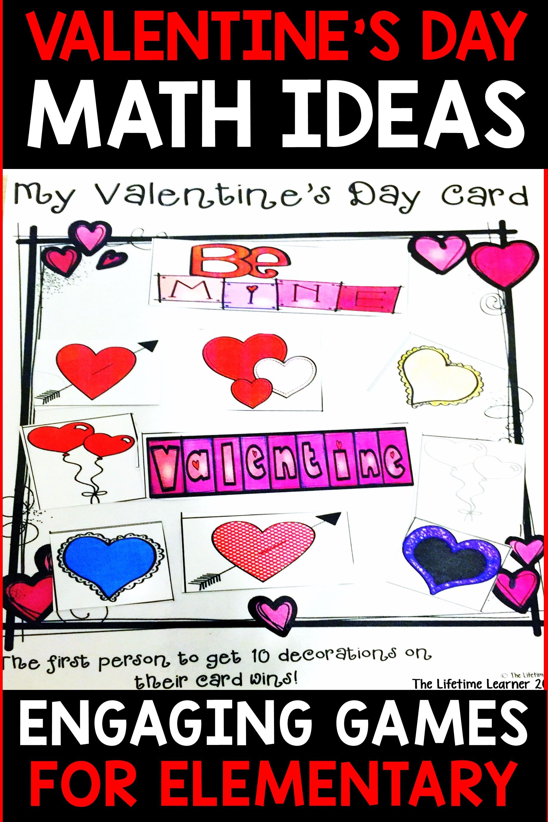 This Valentine S Day Math Game Helps You Be Able To Gain