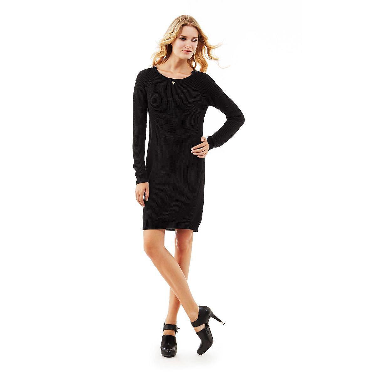 Mixed wool zipped dress    Die grobmaschige Verarbeitung verleiht dem Strickkleid ein feminines Finish. Die Reißverschlüsse setzen an den Kontrastschultern glanzvolle Akzente: Seine außergewöhnliche Optik macht dieses Kleid so unwiderstehlich.    Kontrastschultern mit Reißverschluss.  50% Viskose 45% Baumwolle 5% Wolle.  Handwäsche.  Abgebildet ist Größe S, Längen:  Gesamtlänge ca. 90 cm.  Schu...