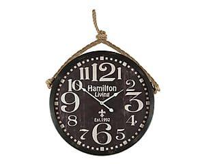 Orologio da parete in metallo 1992 nero e crema - d 52 cm