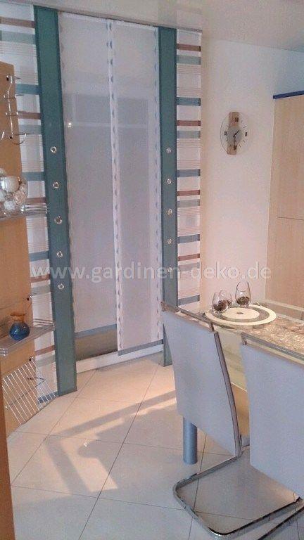 Moderner Schiebevorhang farblich abgestimmt für die Küche - http - deko f r die k che