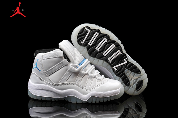 2de5fbfd1fc430 Kid s Air Jordan 11 Retro Basketball Shoes White