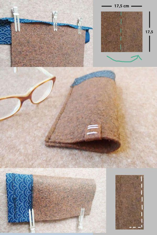 brillenetui selber machen geht mit filz ganz leicht n hen lernen mit filz eine anleitung f r