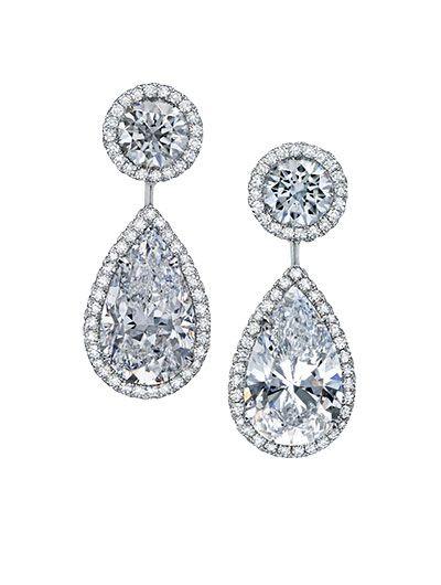 Pear Shape Diamond Drop Earrings Jewelry Finejewelry Diamonds Luxury Martinkatz Martinkatzjewels