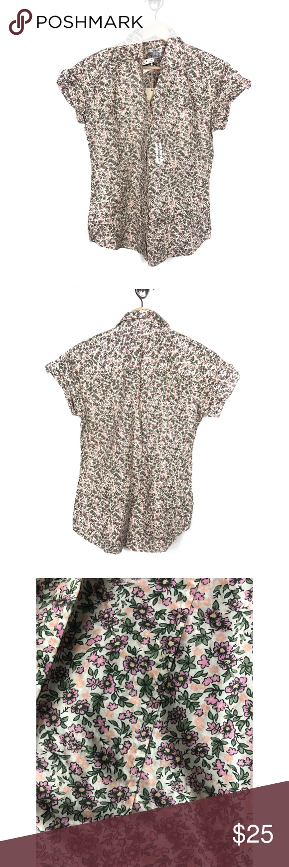 "Carhartt Women's floral button down short sleeve ✨ Carhartt Women's floral button down short sleeve ✨ New with tags never worn  Size small regular  B: 19"" flat  L: 27"" flat   Smoke and pet free household ✨ Carhartt Tops Button Down Shirts #carharttwomen Carhartt Women's floral button down short sleeve ✨ Carhartt Women's floral button down short sleeve ✨ New with tags never worn  Size small regular  B: 19"" flat  L: 27"" flat   Smoke and pet free household ✨ Carhartt Top #carharttwomen"
