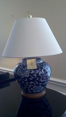 Nwt Ralph Lauren Blue Amp White Porcelain Lamp For The