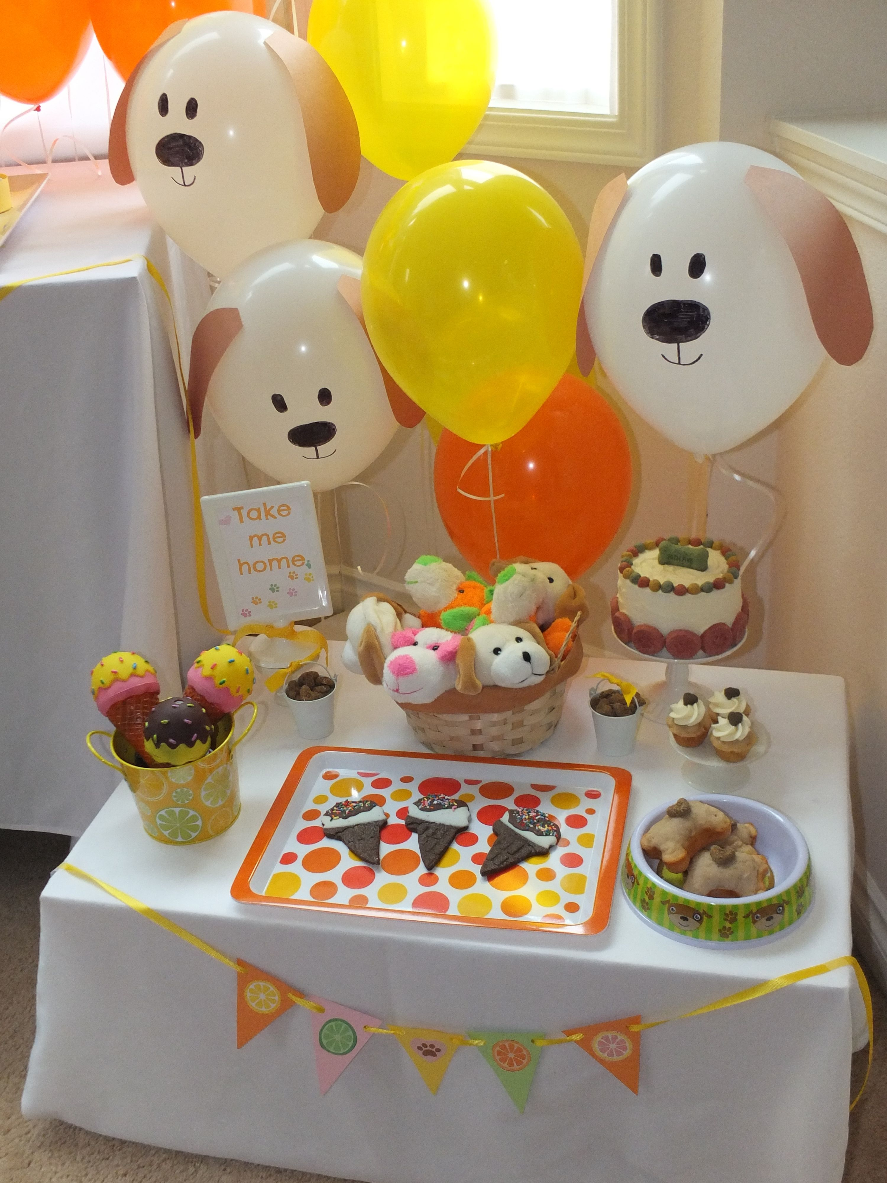 Superb Animal Party Theme Decorations Part - 13: Dog Days Of Summer Party, Puppy Party Ideas, Dog Theme Party, Summer Party,  Great Balloon Idea