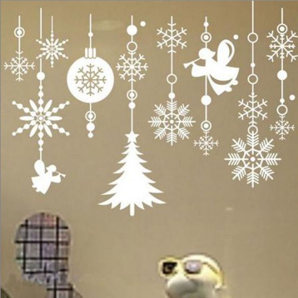 Christmas Snowflake String Vinyl Removable Wall Stickers Decals Shop Window Xmas Decor HG 04363