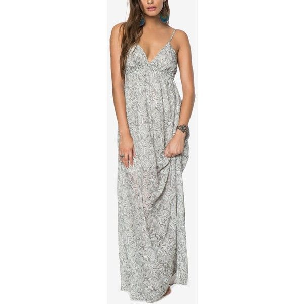 O'Neill Juniors' Deena Printed Open-Back Maxi Dress ($60) ❤ liked on Polyvore featuring dresses, naked, beach dresses, maxi length dresses, open back dresses, open back maxi dress and beachy dresses