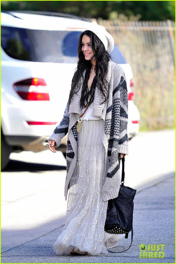 EXCLUSIVE: Vanessa Hudgens wears Chan Luu tiered skirt as she heads to lunch with Austin Butler