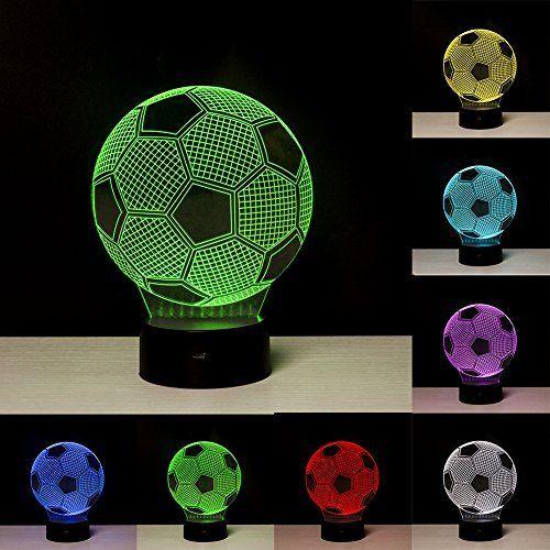 Fussball 3d Optische Illusions Lampen Led Nachtlichter Fzai Touch Tischlampe Haus Dekoration 7 Farben Einzigartige Lichteffekte Zum Kinder Led Lamp Lampen Led