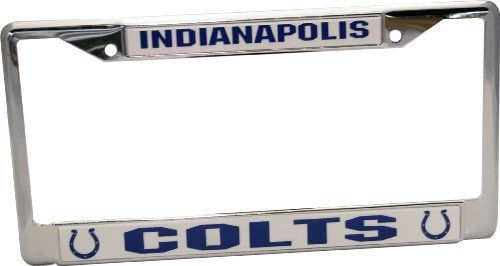 NFL Indianapolis Colts Chrome Licensed Plate Frame by Rico. $12.91. Made in the USA. Chrome finish. Show your team pride with this high quality collectible. Officially Licensed by the NFL. NFL Indianapolis Colts Chrome Frame. Save 58%!