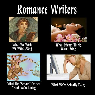Image result for romance writers meme