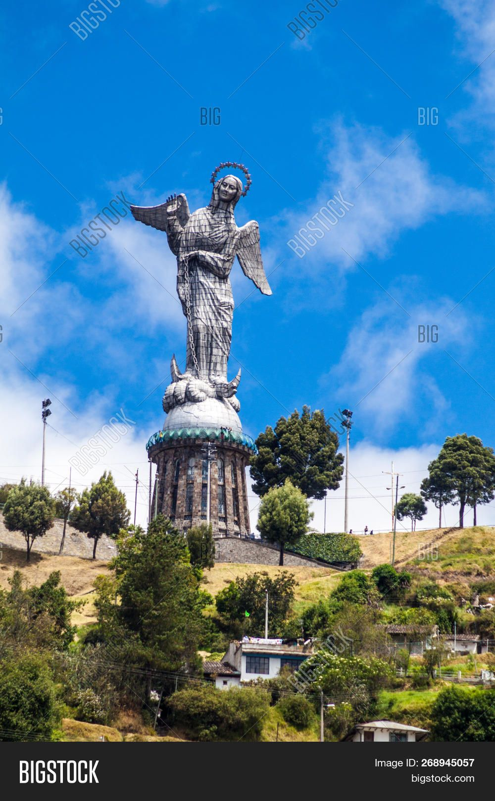 Virgin Of Quito Statue On El Panecillo Hill In Quito Ecuador Quito Ecuador Quito Ecuador