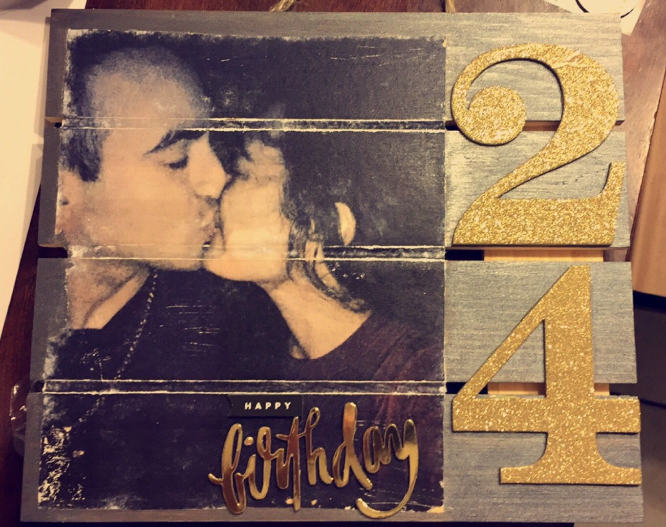 The Birthday Gift I Made My Boyfriend For His 24th Transferred A Photo To Wooden Board DIY PHOTOTRANSFER