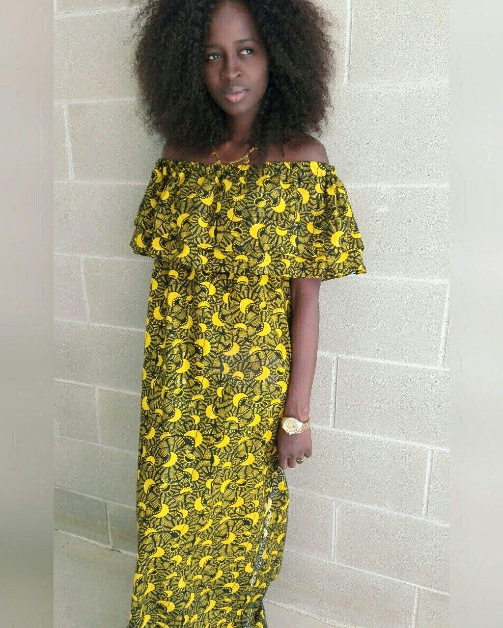 Longdress~ africanprint~ my own creation
