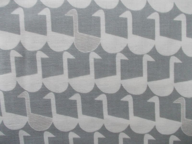 Stoff Tiermotive - Gänse grau, double gauze - ein Designerstück von Mai-Lu bei…