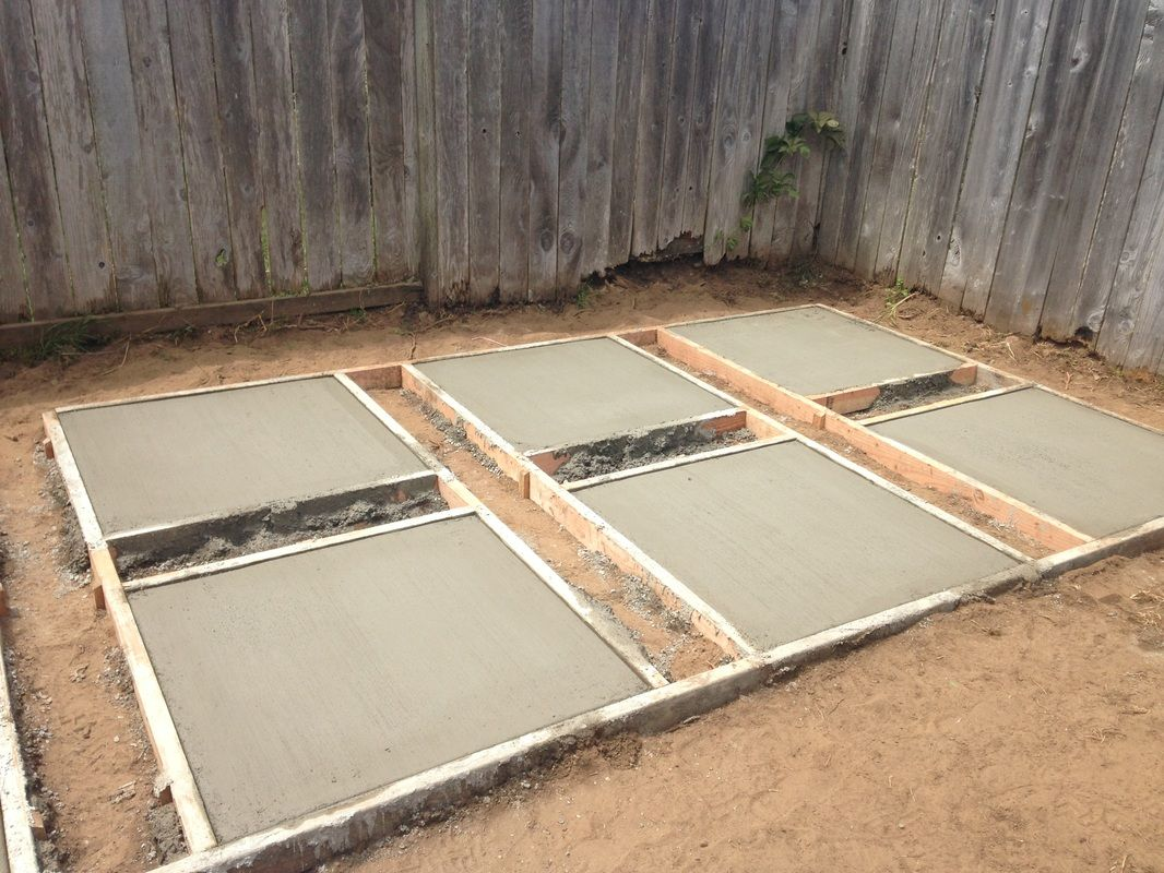 how to pour your own concrete pavers backyard garden