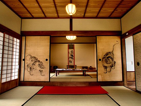 Tatami i fusuma pinteres for Traditional japanese interior