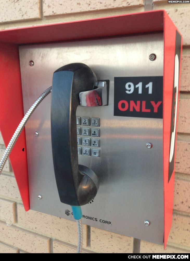 """My drunk friend had a great question about this. """"If its only for 911, why did they put all the other numbers there?"""""""
