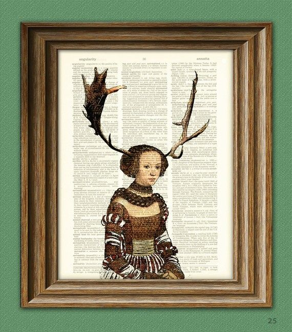 girl with antlers | Woodlands Antler Girl illustration beautifully ... | drawings and pri ...