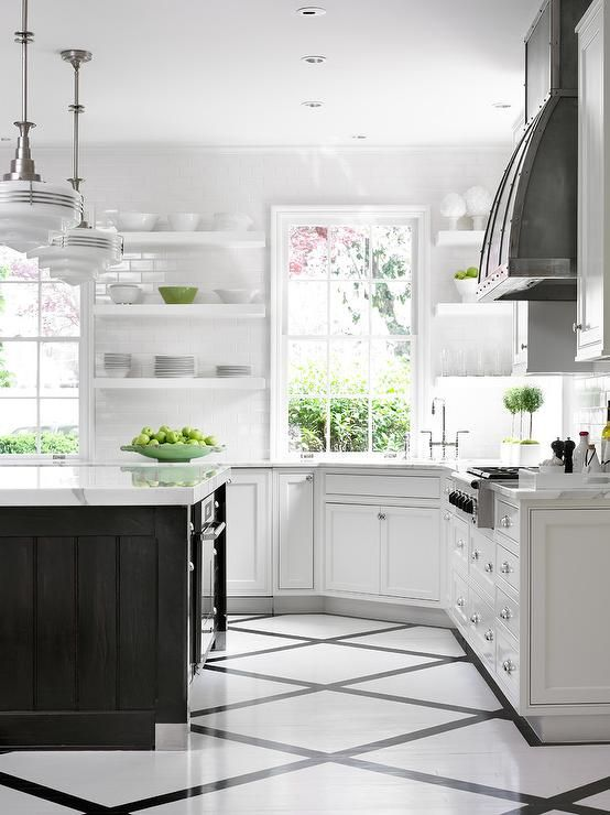 Amazing Kitchen Features A Pair Of Schoolhouse Pendants
