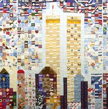 The National Tribute Quilt, on display at The American Folk Art ... : new york city quilt - Adamdwight.com