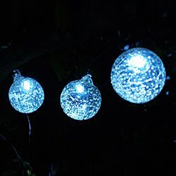Aurora Glow Solar LED String Lights with 6 Clear Glass Balls want