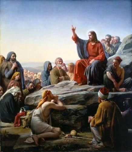 Handmade Oil Painting Repro Carl Heinrich Bloch The Sermon on The Mount   eBay