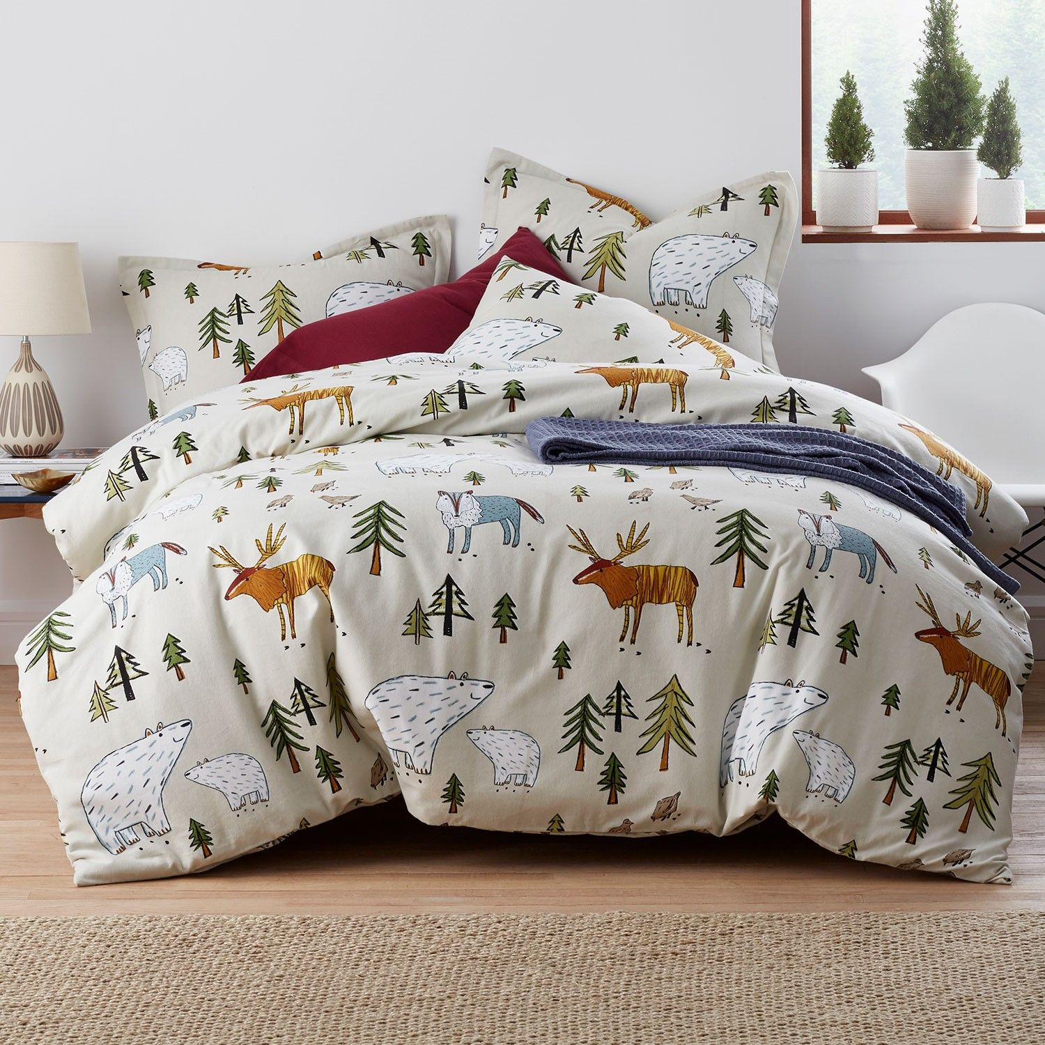 Winter Animal Flannel Sheets Bedding Set The Company Store