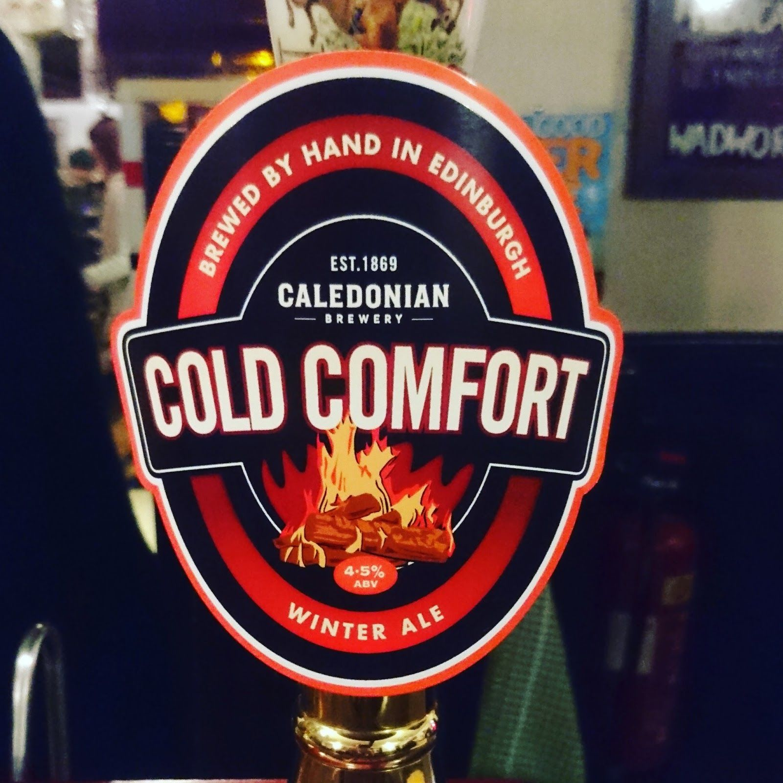 Cold Comfort From Caledonian Brewery Craft Beer Real Ale Review Pump Clip Craft Beer Beer Brewery