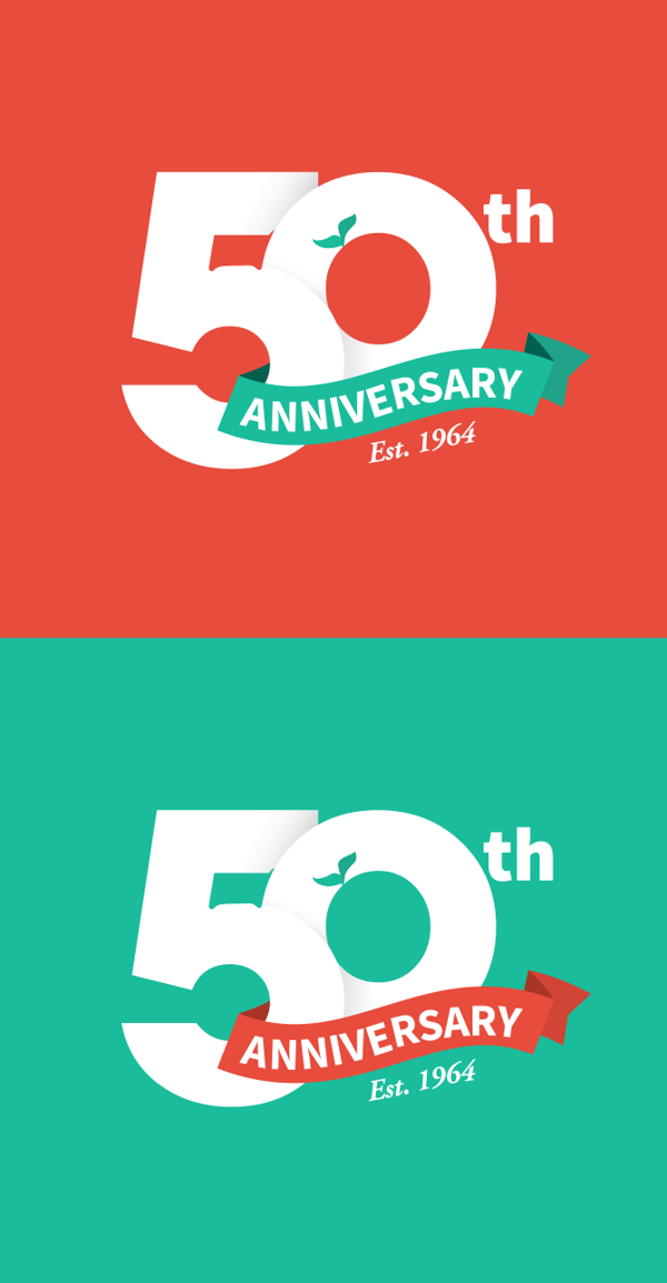 50th anniversary logo by jay yeater via behance creative 50th anniversary logo by jay yeater via behance altavistaventures Image collections