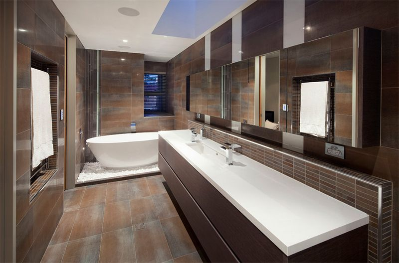 20 Stunning Contemporary Dark Wood Bathroom Vanity  Dark Wood Best Designer Bathrooms Perth Inspiration Design