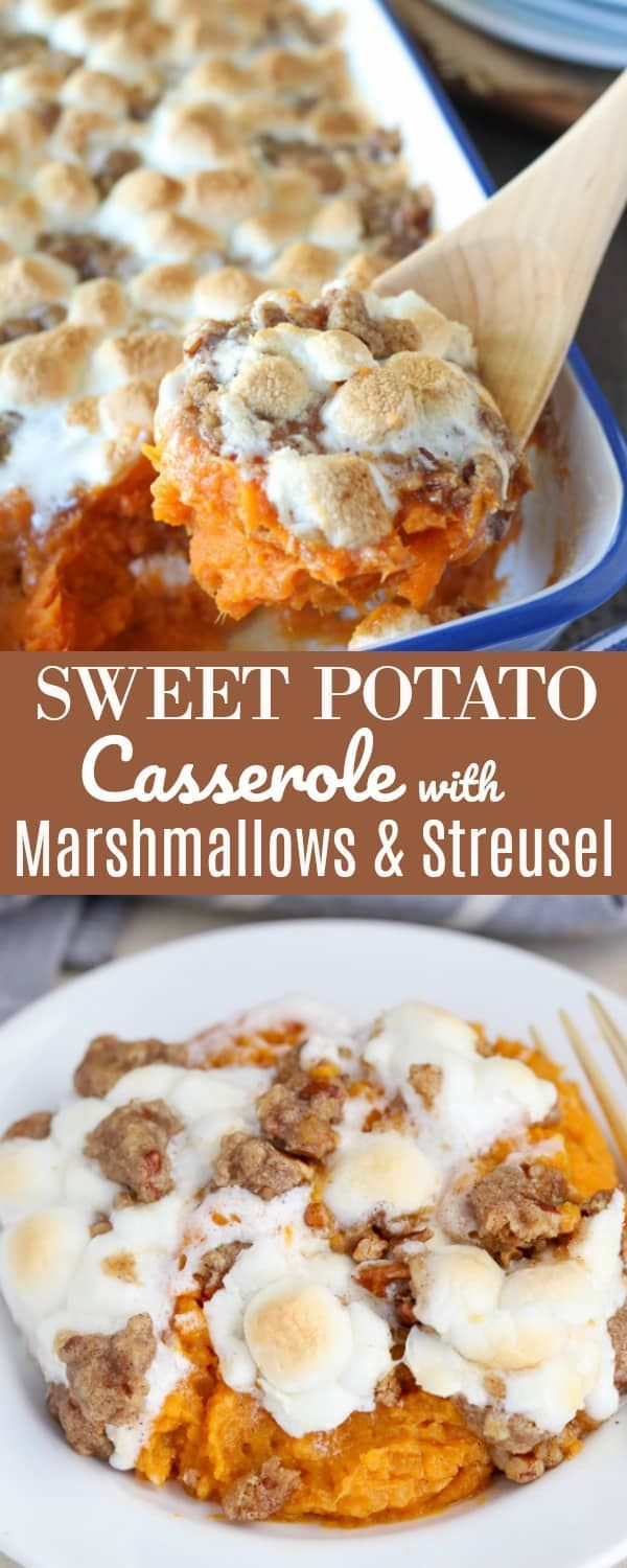 Sweet Potato Casserole with Marshmallows and Streusel - Celebrating Sweets