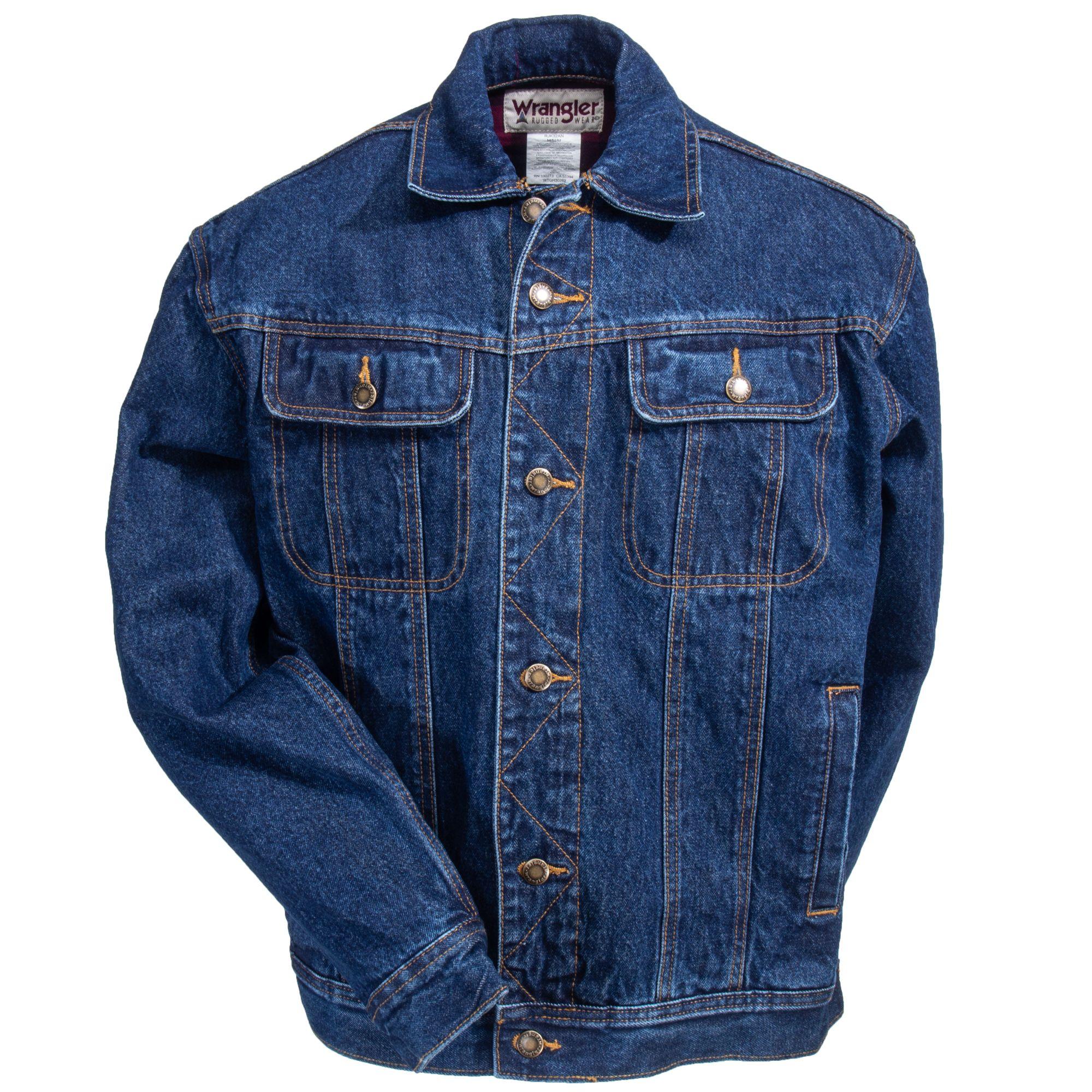 90eba1918da Wrangler RJK32 AN Men s Flannel Lined Denim Jacket. Wrangler Men s Rugged  Wear ...