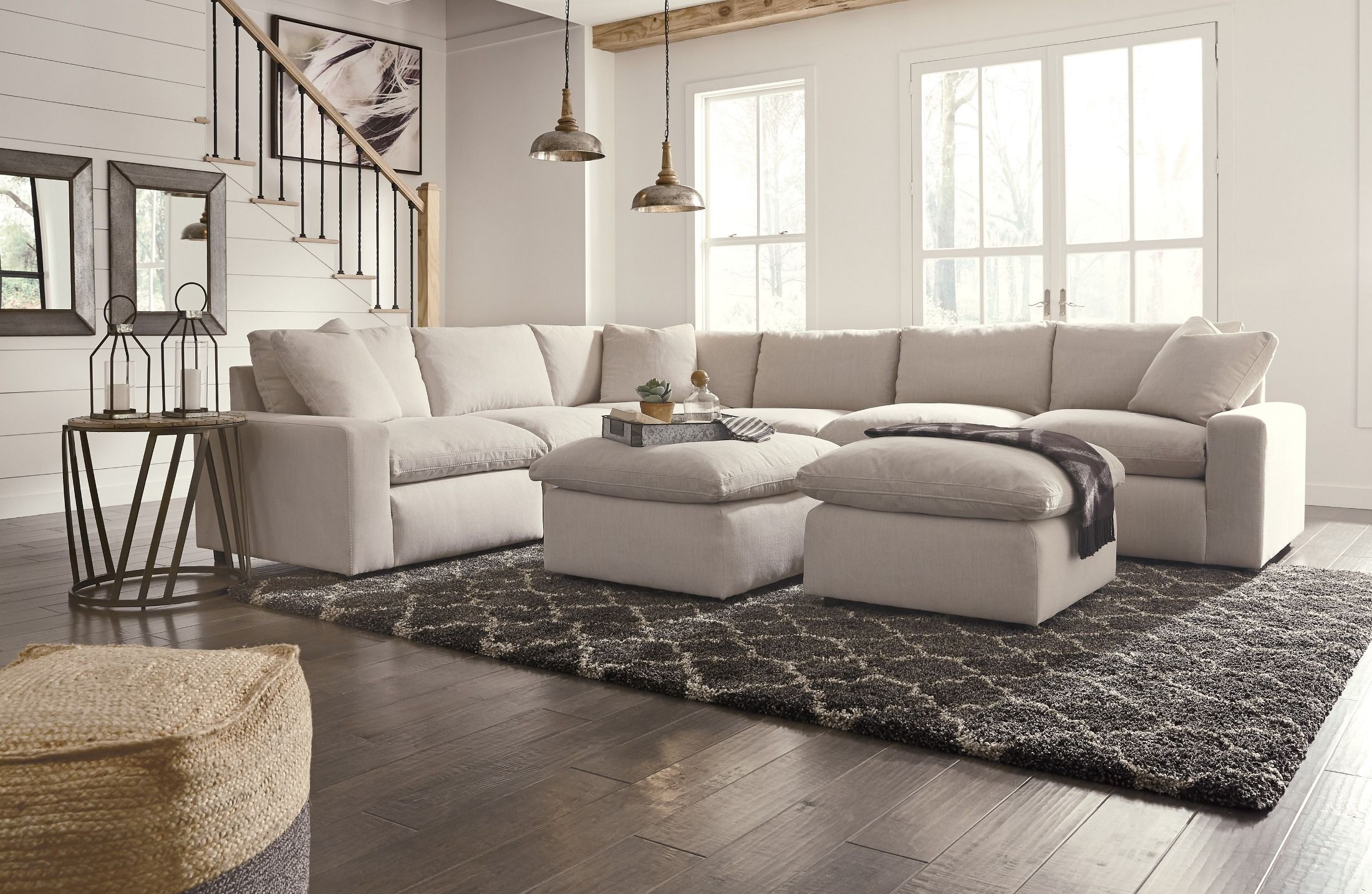 Rawcliffe Parchment 4 Piece Sectional Furniture Ashley Furniture Sectional