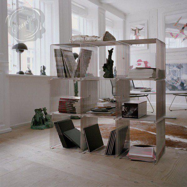 wohnzimmer trennwand drahrt regal Wohnen Pinterest Stauraum - wohnzimmer grun rosa