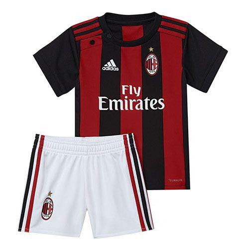 Camiseta AC Milan Ninos Primera 2017 2018  371b0400e85df